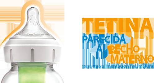 Tetina similar al pecho biberón antiólicos